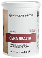 Vincent Decor Cera Realta / Винсент Декор Чера Реальта глянцевый воск для декоративных покрытий